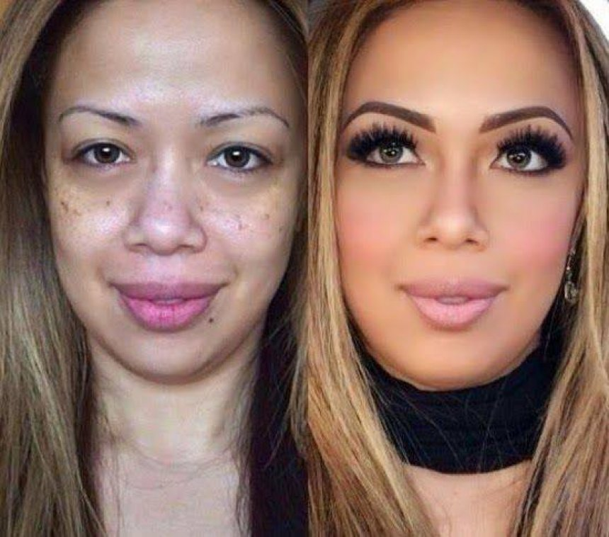 you ll be amazed at these before and after makeup contouring