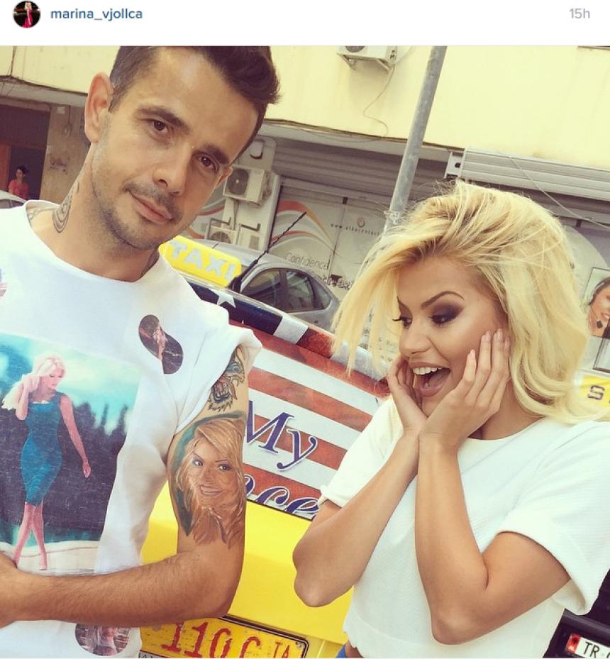 Taksisti bën tattoo Marina Vjollca