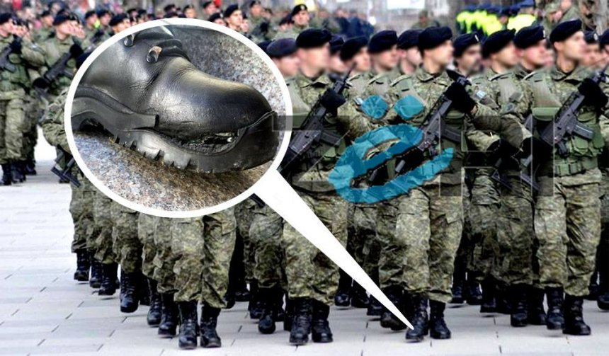 Skandal: Pjesëtarët e FSK-së me çizme të shqyera (Foto+Video)