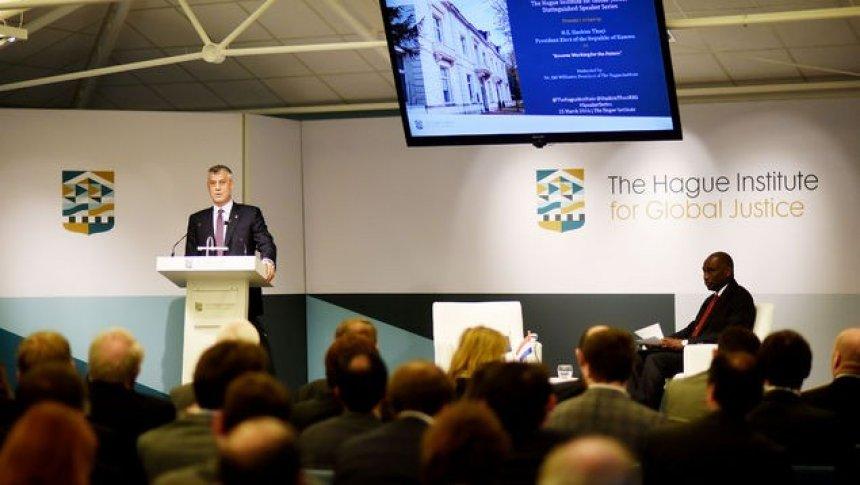 Fjalimi i Thaçit në Institutin e Hagës për Drejtësi Globale