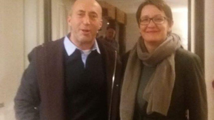 Aida Dërguti viziton Ramush Haradinajn në Francë