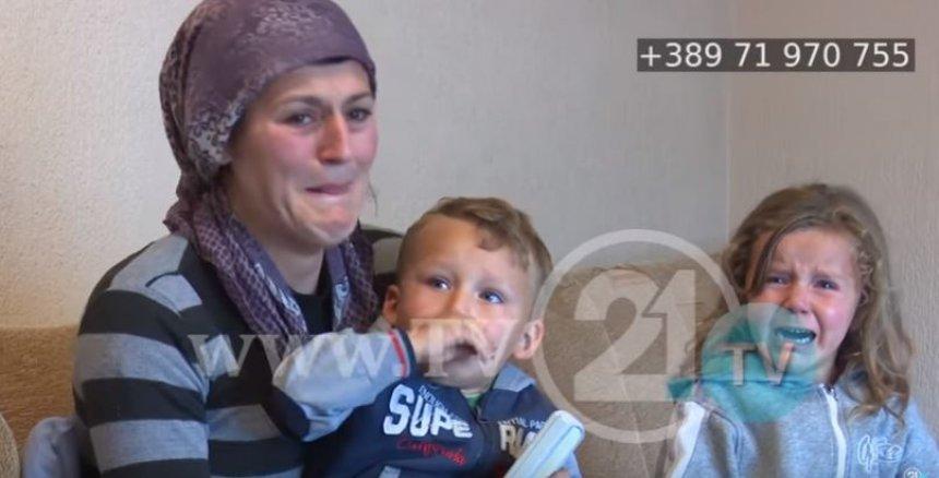 Fëmijët dy ditë pa bukë në gojë, familja skamnore kërkon lëmoshë (Video