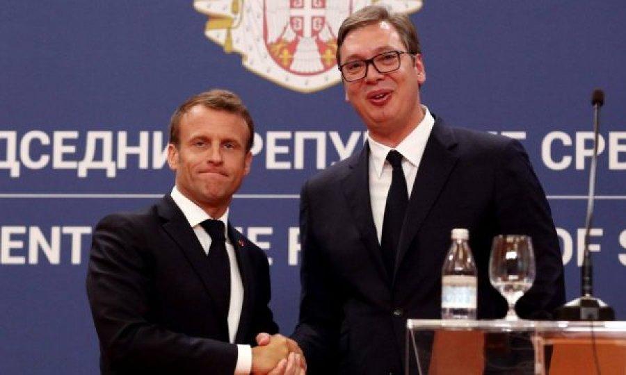 Macron në Beograd  Kosova në Kushtetutën serbe nuk i përgjigjet realitetit  Rama nuk përmendet