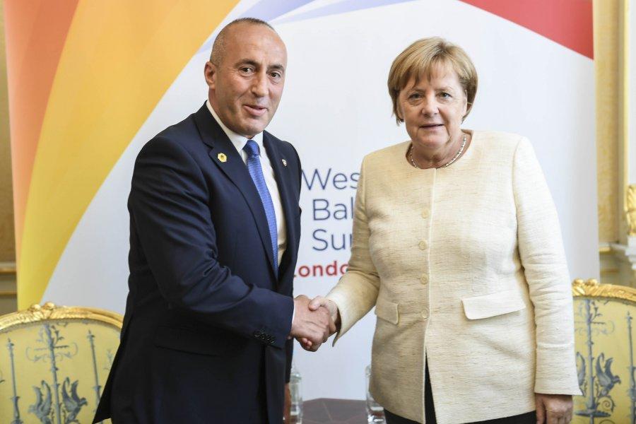 LDK  Takimi Haradinaj   Merkel konfirmon shuarjen e idesë për korrigjim të kufijve
