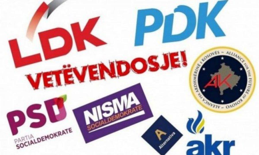 LDK  PDK dhe AAK kundër deklaratës së Bahtirit për vëllavrasje  distancohet edhe LVV ja