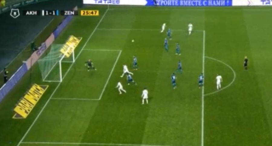 Supergoli i Bernard Berishës zgjidhet në mesin e më të mirëve të javës në Premierligën ruse